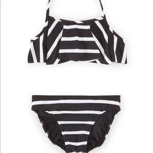 Ralph Lauren Striped Ruffle Halter Bikini